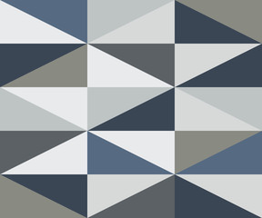 Abstract Rhombus Cold Colors Pattern