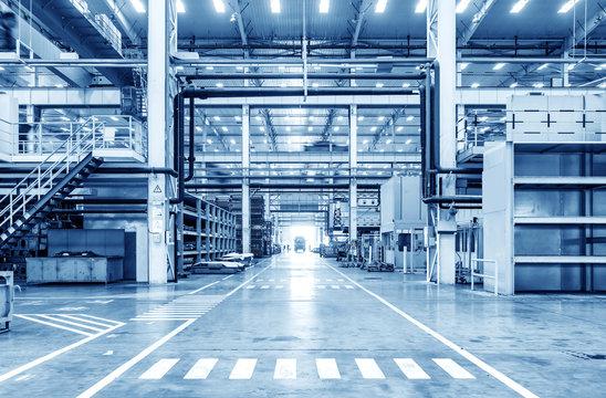 Automobile factory production workshop