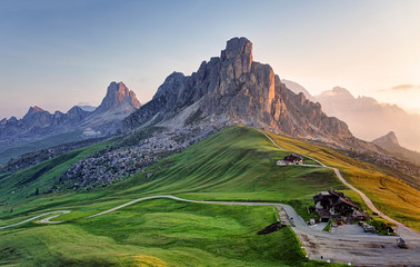 Photo sur Aluminium Alpes Landscape nature mountan in Alps, Dolomites, Giau