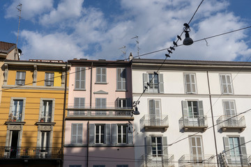 Historic houses in Milan (Italy)