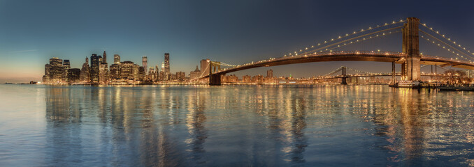 Brooklyn Bridge panorama view