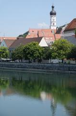Wall Mural - Lech und Kirche in Landsberg