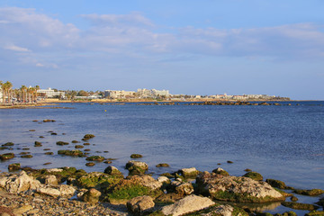 Bay of Paphos and the mediterranean sea, Cyprus