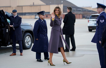 """First lady Melania Trump on a two-day tour to promote her """"Be Best"""" initiative"""