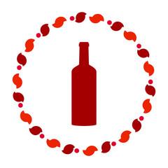 Flasche und Kranz
