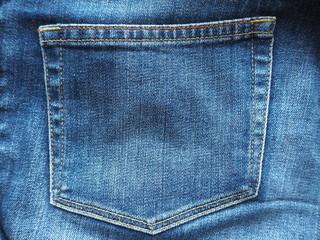 デニムジーンズのポケット