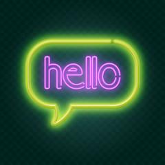 Garden Poster Retro sign hello neon sign