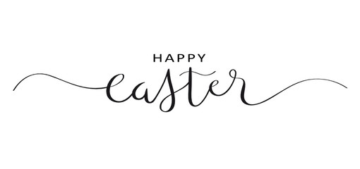 Wall Mural - HAPPY EASTER brush calligraphy banner