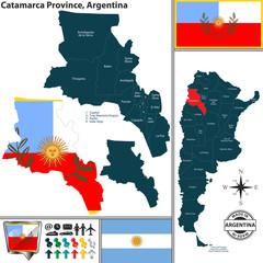 Map of Catamarca Province, Argentina