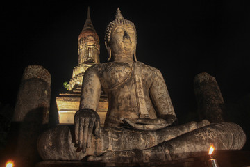 buddha statue in Sukhothai thailand