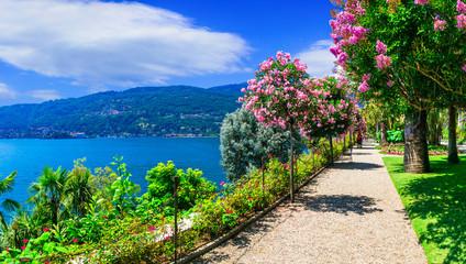 scenic lake Lago Maggiore - beautiful