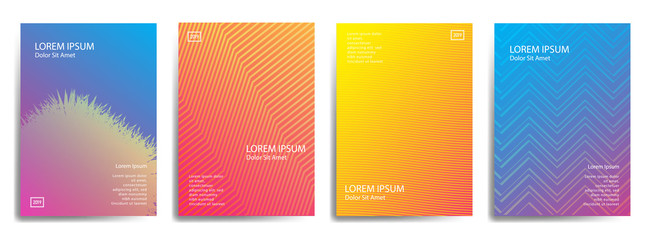 set cover design with abstract line
