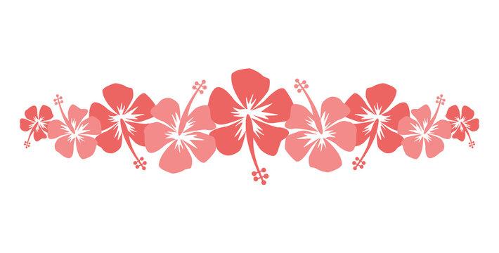 Bannière hibiscus-living coral