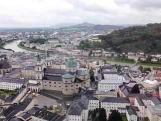 호엔잘츠부르크성에서 내려다본 오스트리아 잘츠부르크 도시 전경