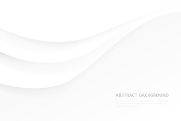 Creative minimal geometric curve shape with white and gray background. Dynamic shapes composition and elements.Modern design in Eps10 vector illustration.
