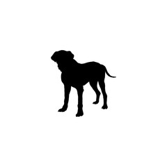 Poster Panther dog icon vector. dog sign on white background. dog icon for web and app