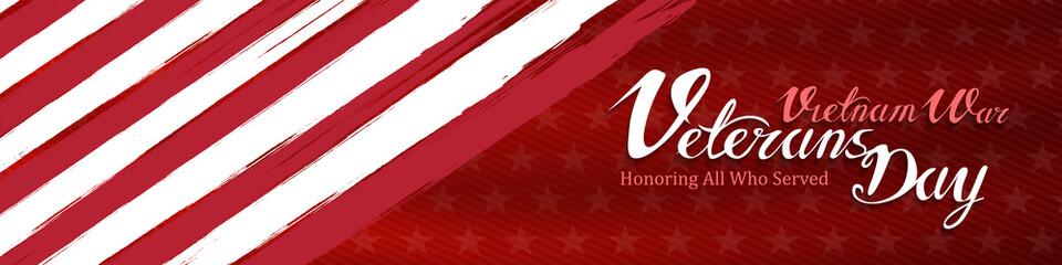 vietnam war veterans day, March 29, honoring all who served, posters, modern brush design vector illustration