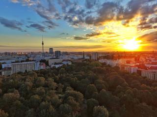 Berliner Volkspark at sunset