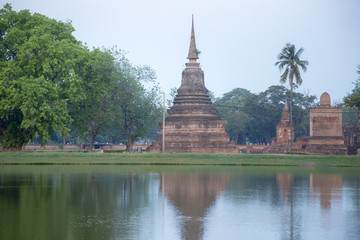 Sukhothai Historical Park or Old Sukhothai City the very first capital city of Thailand