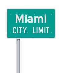 Miami City Limit road sign