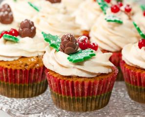 Gingerbread cupcake for christmas