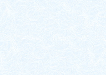 Abstract guilloche line pattern (vector complicated line texture). Blank blue background useful for certificate bond, diploma, official document, formal paper
