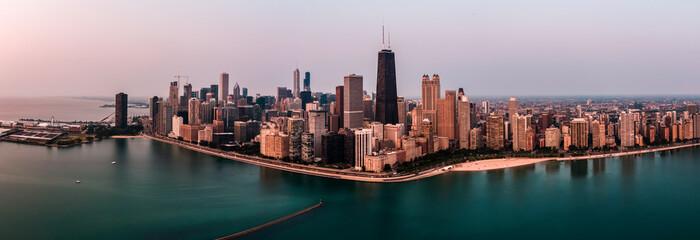 Photo sur Toile Chicago Chicago Pano