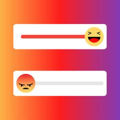 Set of slider smile for social media
