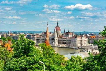 Printed kitchen splashbacks Budapest Hungarian parliament building, Budapest, Hungary