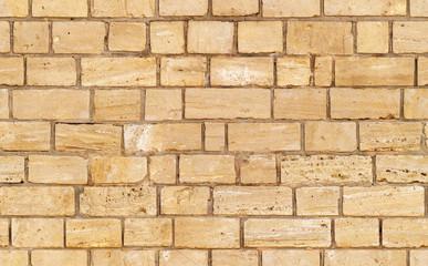 yellow seamless brick wall texture