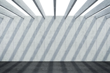 abstract architectural concrete composition