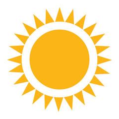 Sun vector image in flat style.