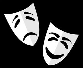 Theater masks VECTOR