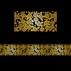 Seamless gold full floral element