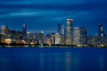 View of Chicago skyline