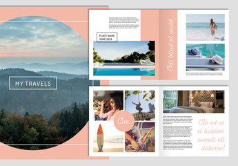 Photo Album Layout with Salmon Accents