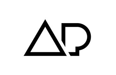 black and white alphabet letter logo combination design