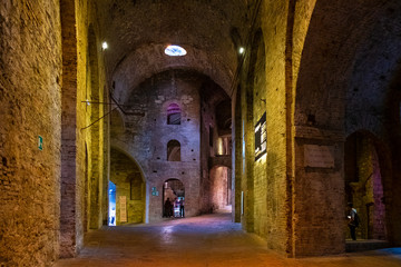 Perugia, Italy - Underground tunnels and chambers of the XVI century Rocca Paolina stone fortress in Perugia historic quarter Fototapete