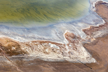 Abstract aerial view of coastline on the Great Ocean Road, Melbourne, Australia