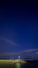 Fotografía nocturna en el puerto de Porto do Son