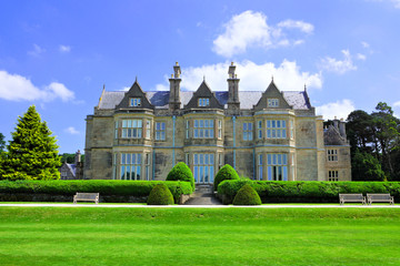 Muckross House, a 19th-century mansion with garden in Killarney National Park, Ring of Kerry, Ireland