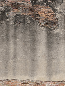The Old and crack brick wall texture background.