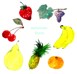 果物水彩画