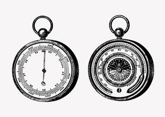 Aneroid barometer vintage style