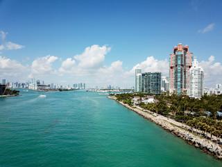 Miami Beach, South Beach, South Pointe Park, Government Canal. Florida, USA