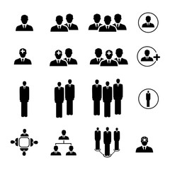 People Icon set in trendy flat style isolated on background.Vector illustration,Vector