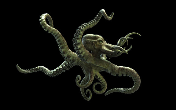 Tentacle Alien of The Deep