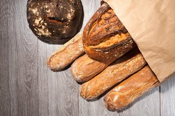 bread on paper bag