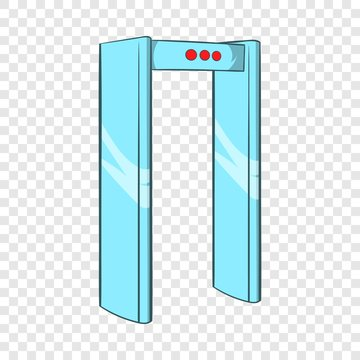 Metal detector icon in cartoon style on a background for any web design