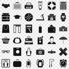 Sport life icons set. Simple style of 36 sport life vector icons for web for any design
